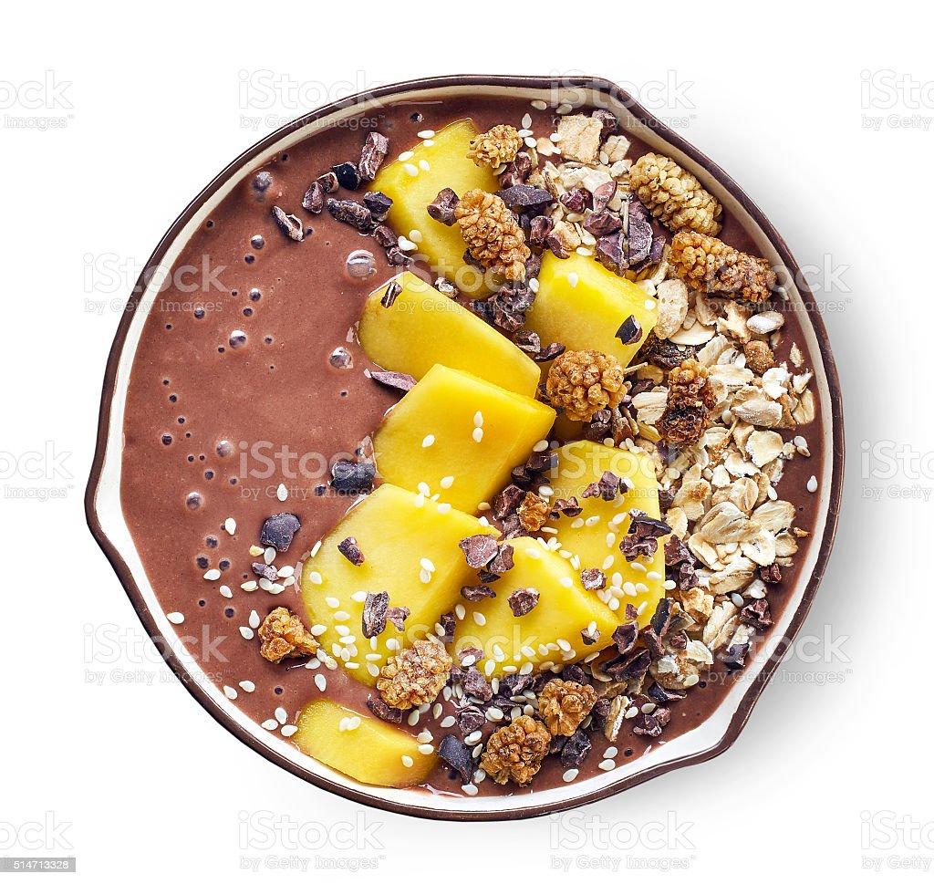 breakfast smoothie bowl stock photo