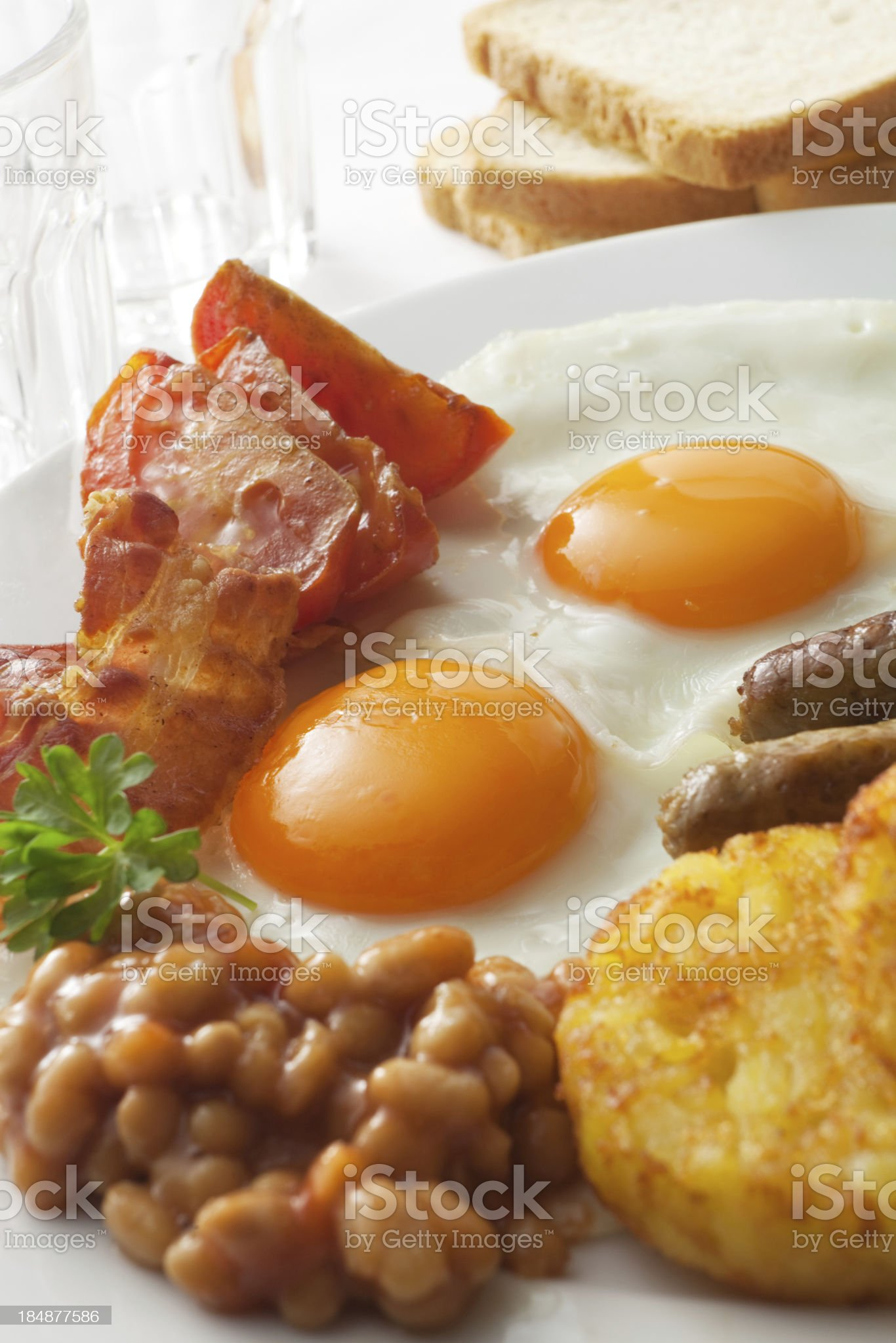 Breakfast Stills: English Fried Eggs royalty-free stock photo