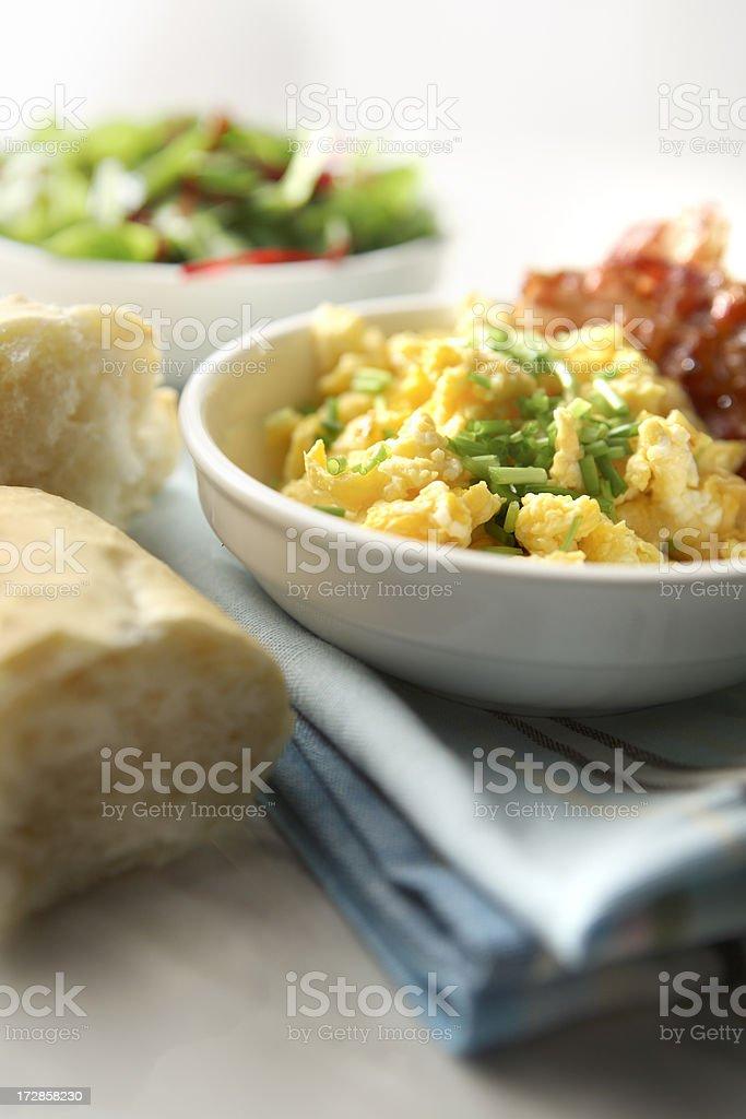 Breakfast Stills: Scrambled Eggs stock photo