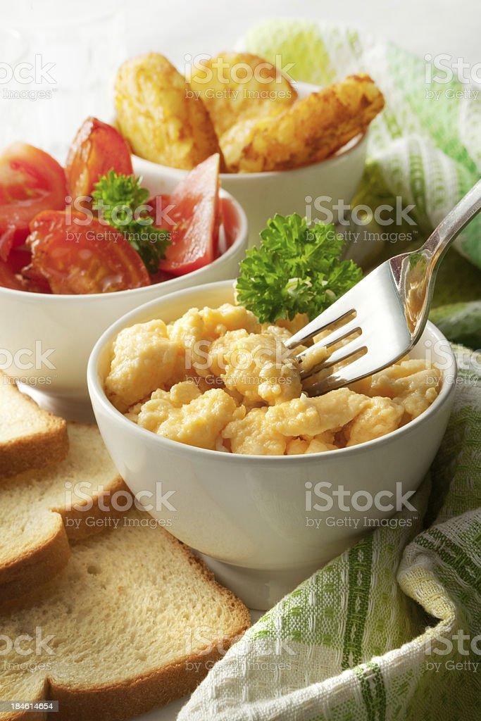 Breakfast Stills: Scrambled Eggs royalty-free stock photo