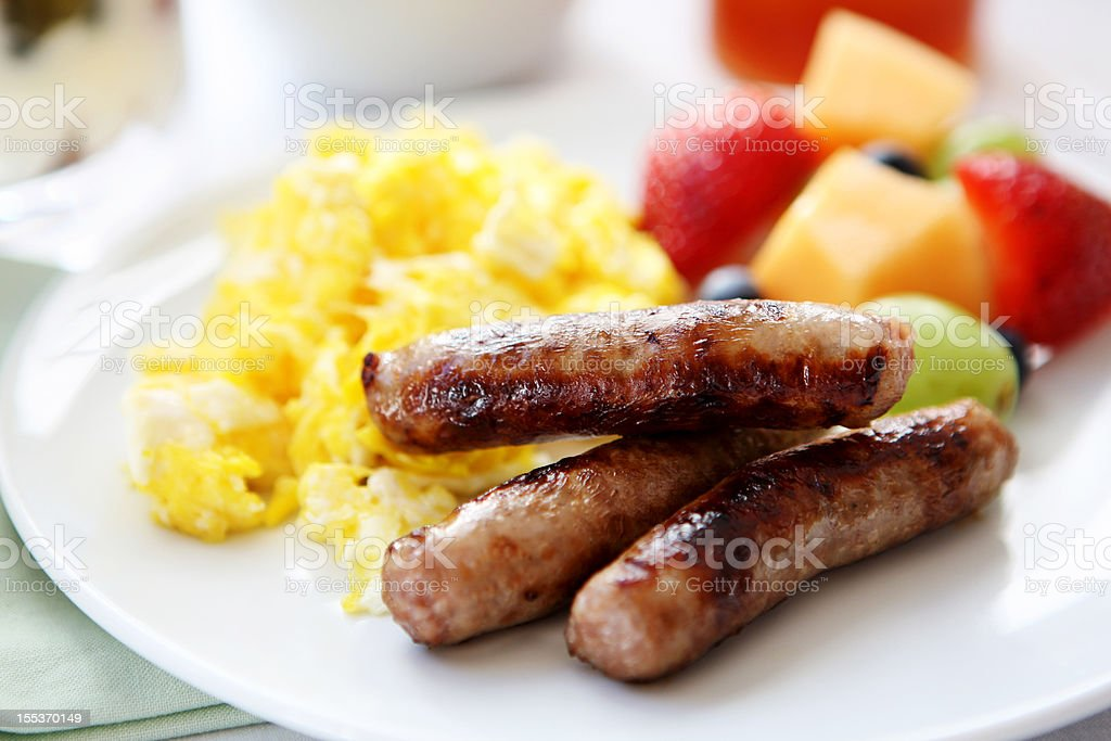 breakfast table stock photo