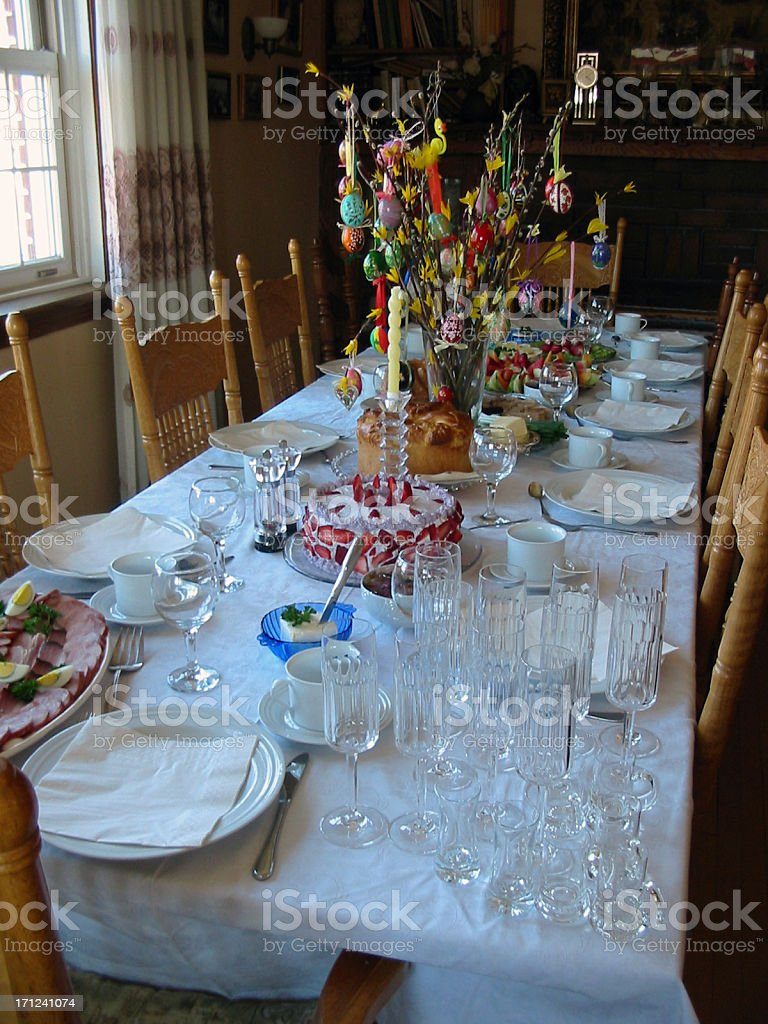 Breakfast Table (Easter) royalty-free stock photo