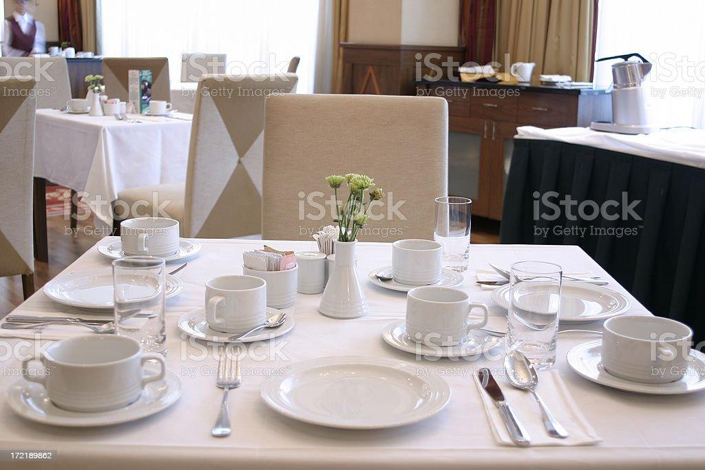 Tavolo per la prima colazione foto stock royalty-free