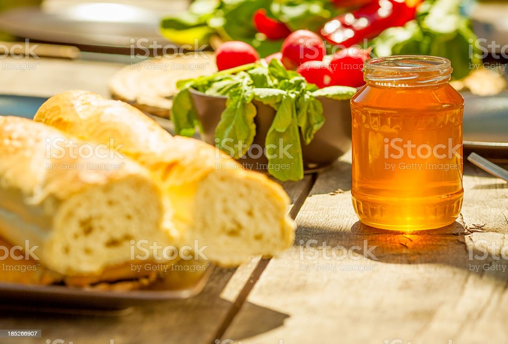 Breakfast table royalty-free stock photo