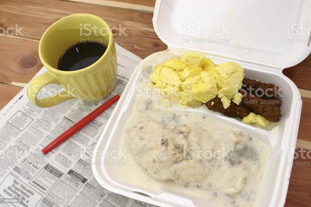 Breakfast Takeout royalty-free stock photo
