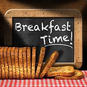 Breakfast Time - Rusks and Blackboard