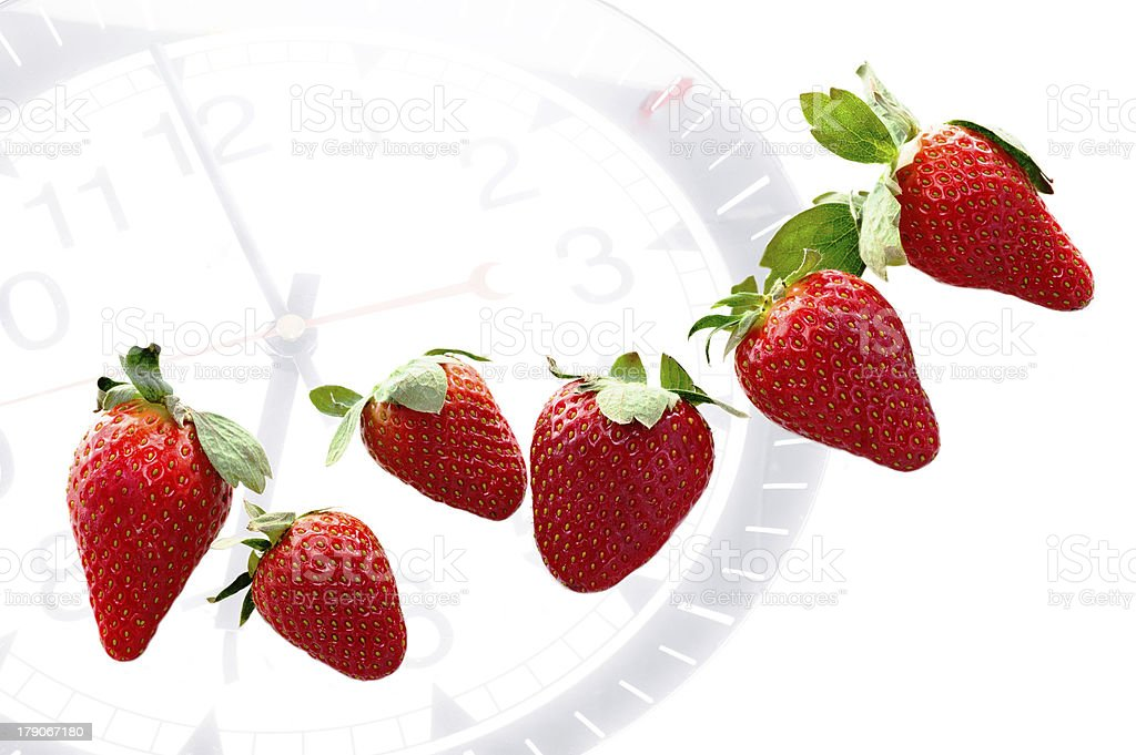 breakfast time with strawberries royalty-free stock photo