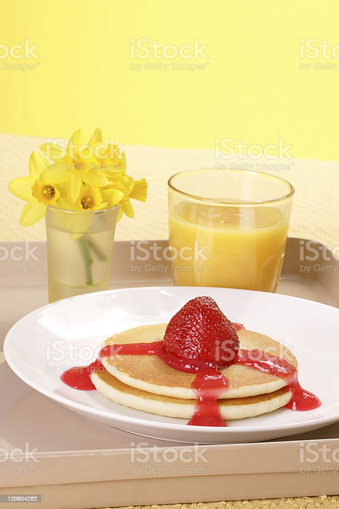 Breakfast tray royalty-free stock photo