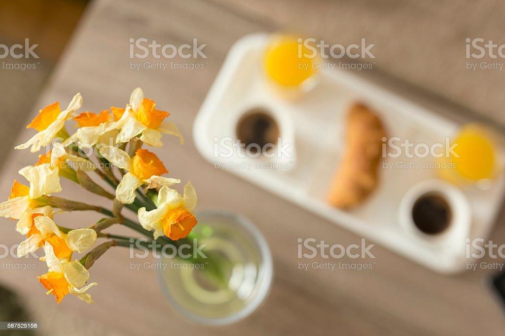 Breakfast tray stock photo
