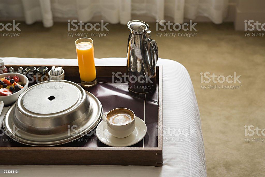 Breakfast tray stock photo