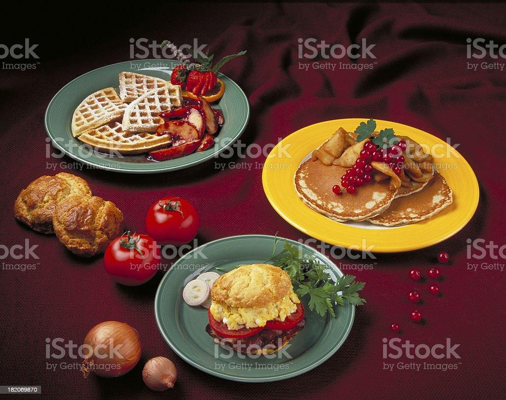 Breakfast trio royalty-free stock photo