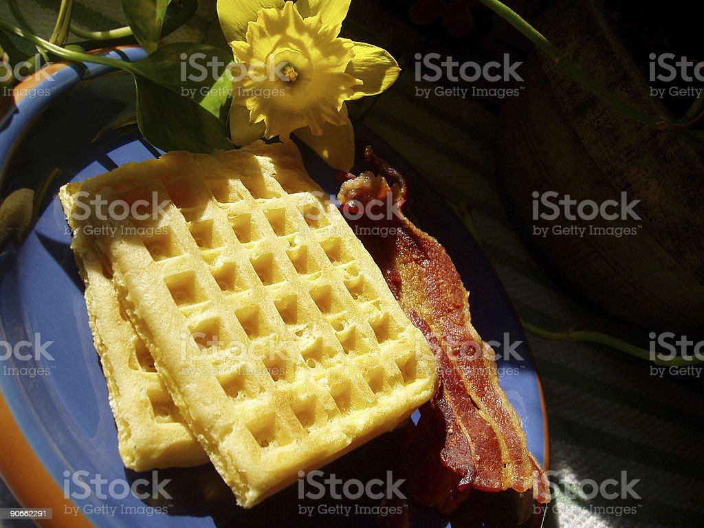 Breakfast - Waffles and Bacon (Part 2) royalty-free stock photo
