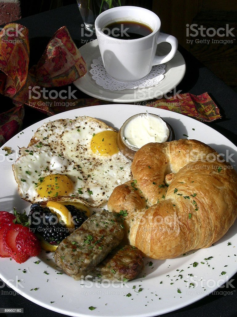Breakfast With a Bow stock photo