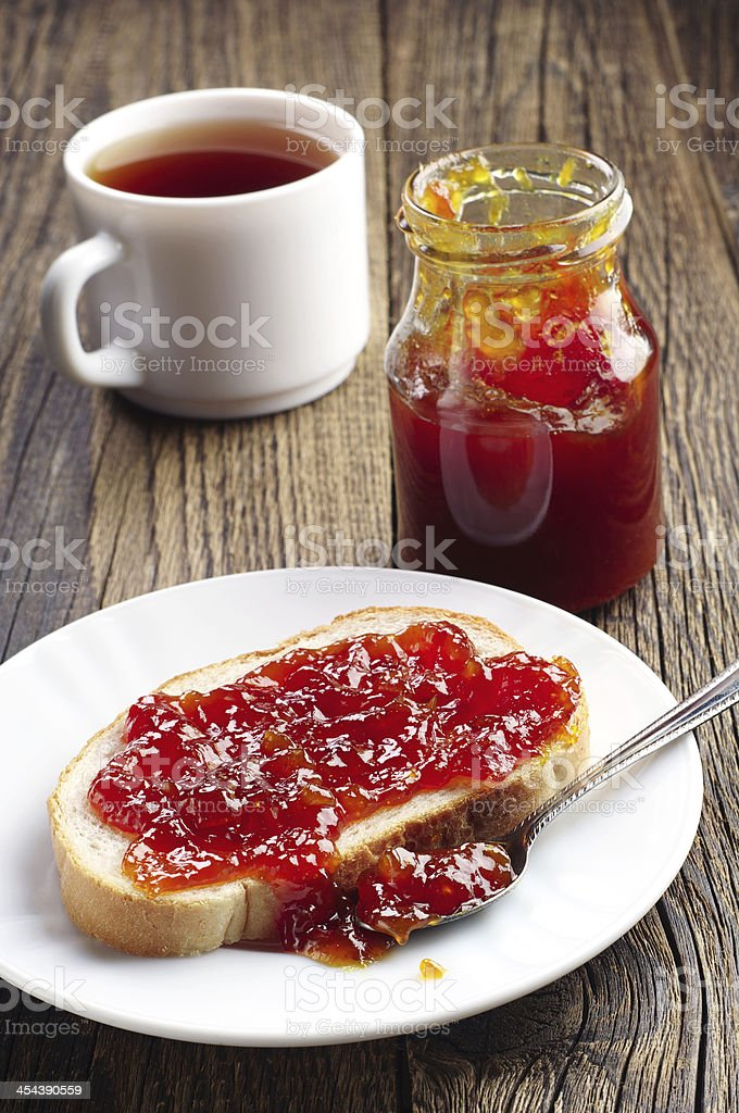 Desayuno con PAN y contratuerca foto de stock libre de derechos
