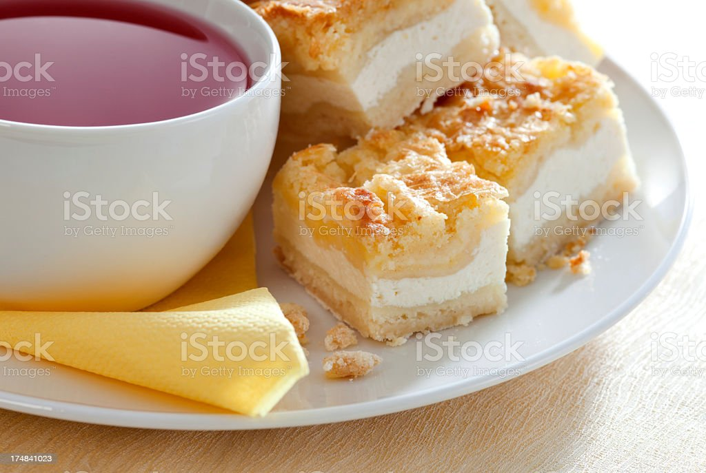 Breakfast with Cheesecake royalty-free stock photo