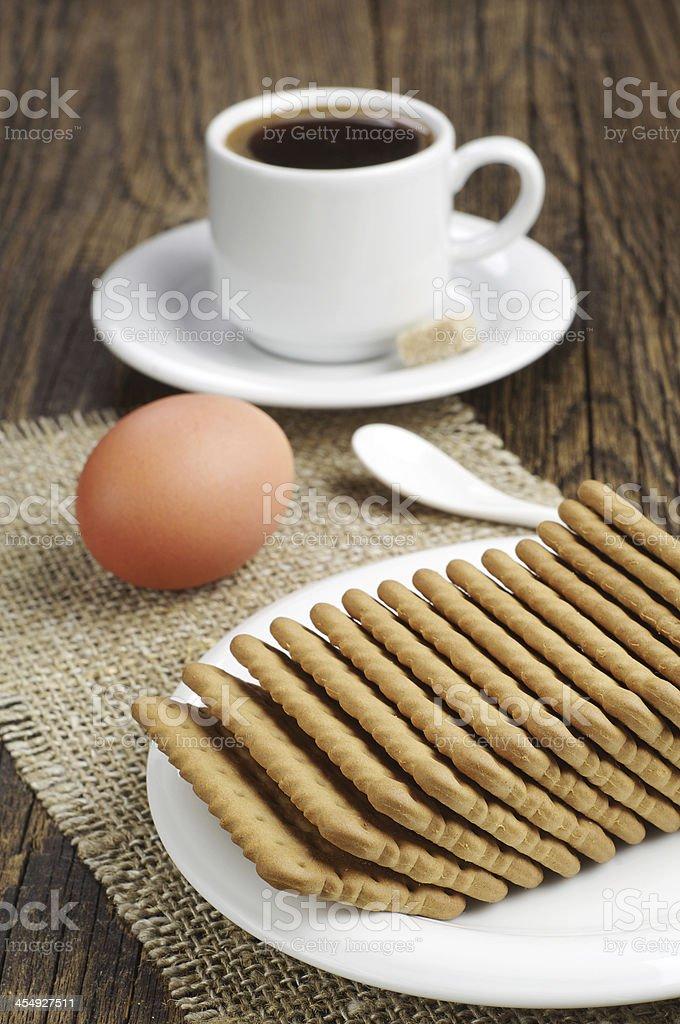 Desayuno con café y las cookies foto de stock libre de derechos