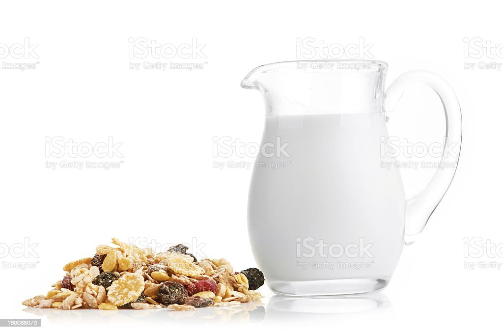 Breakfast with corn-flakes royalty-free stock photo