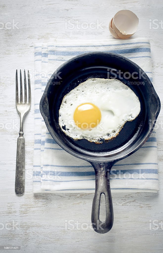Breakfast with egg royalty-free stock photo