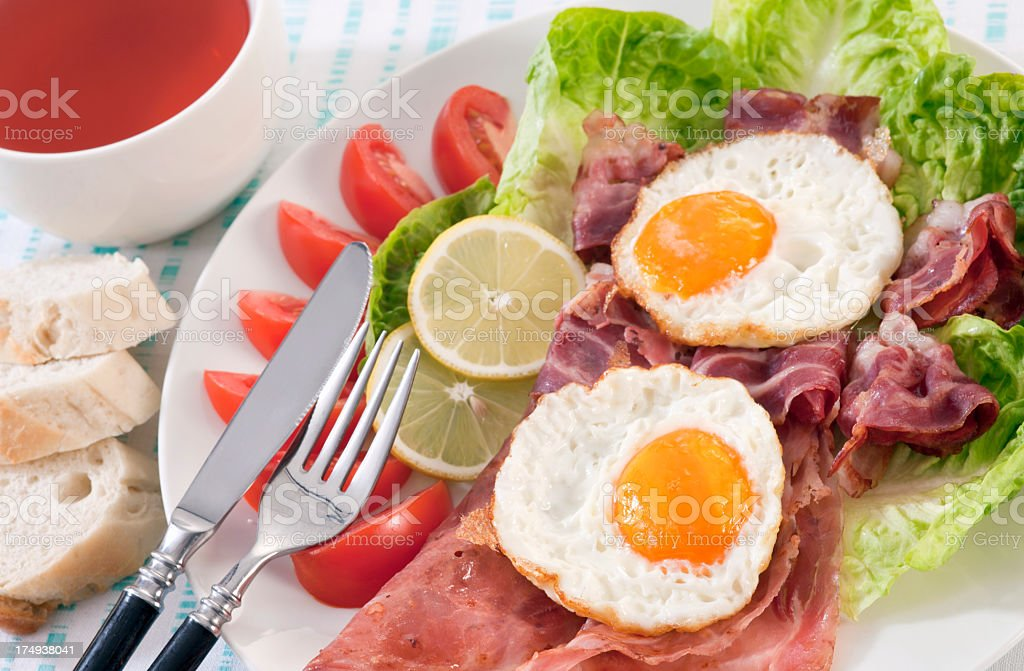 Breakfast with Fried eggs royalty-free stock photo
