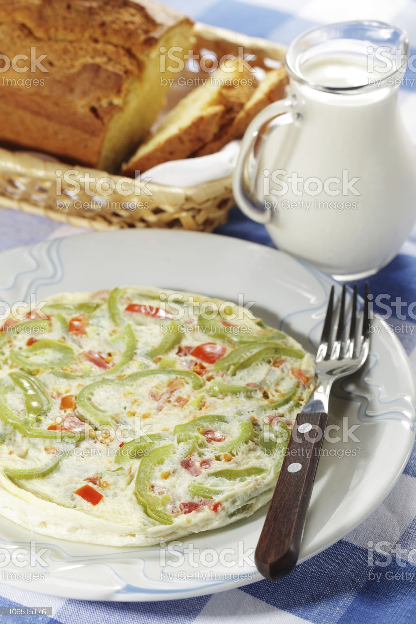 Breakfast with frittata royalty-free stock photo