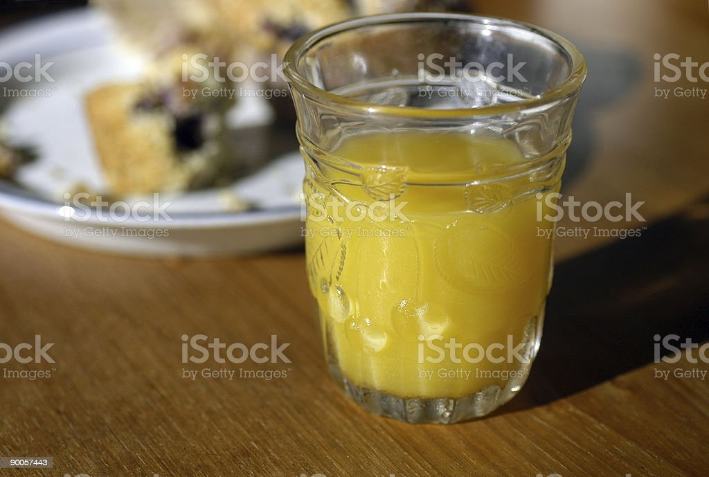 Breakfast with orange juice and muffin royalty-free stock photo