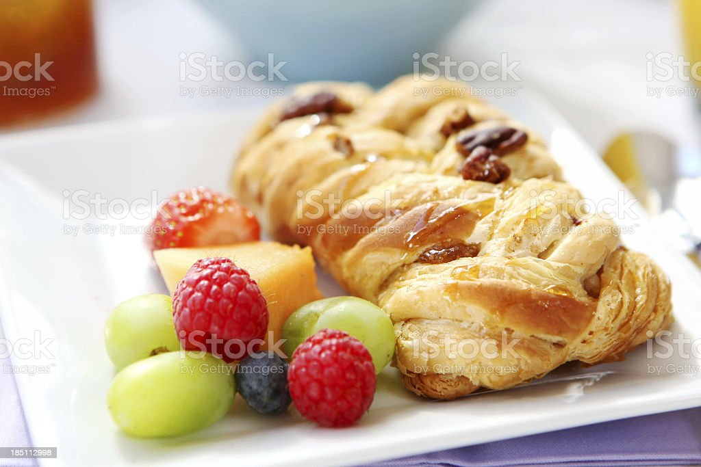 Breakfast with pastry stock photo