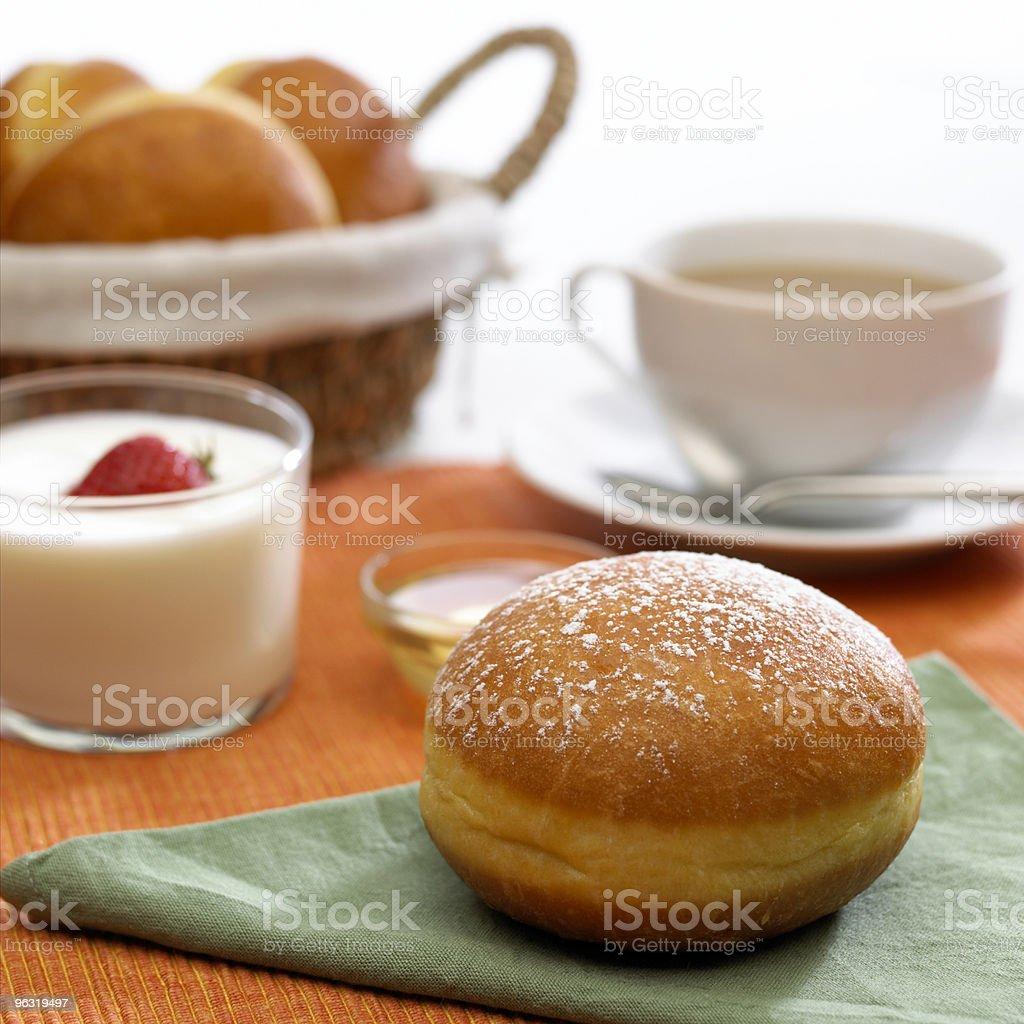 breakfast with yogurt royalty-free stock photo