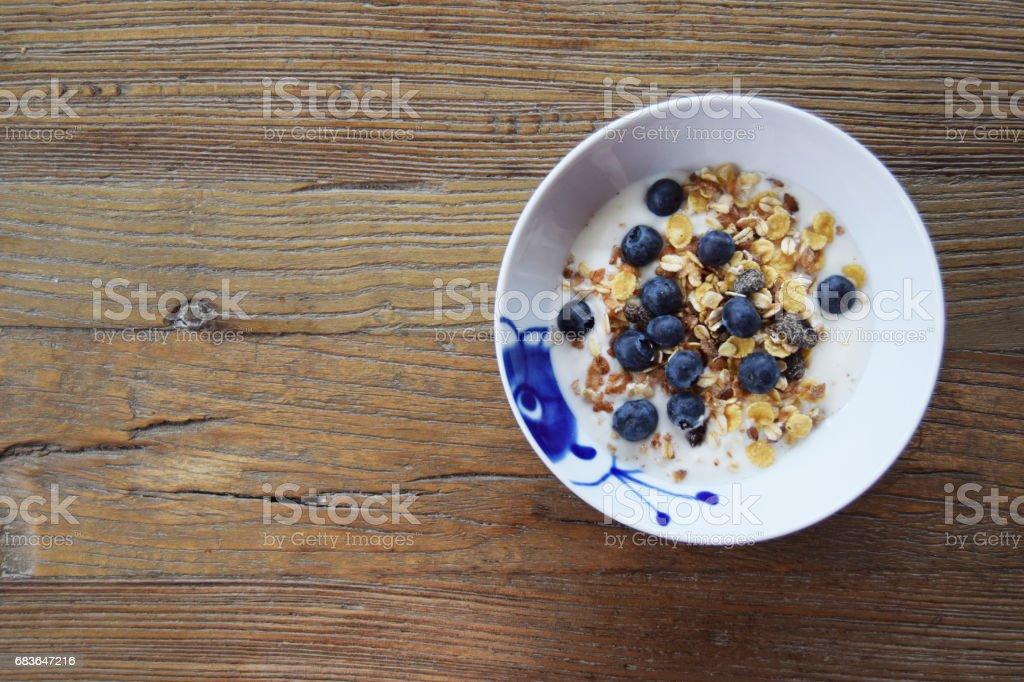 Breakfast yogurt stock photo