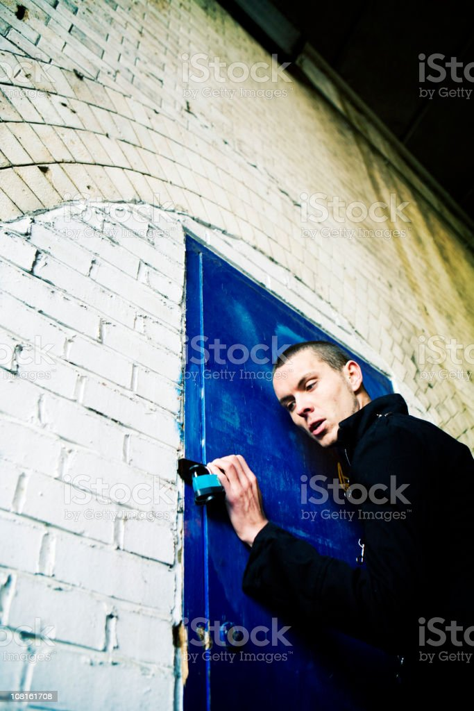 breaking and entering royalty-free stock photo
