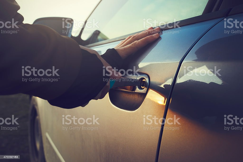 breaking car stock photo