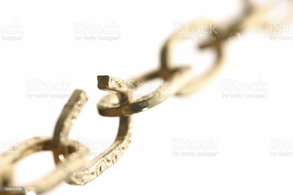 Breaking chain royalty-free stock photo