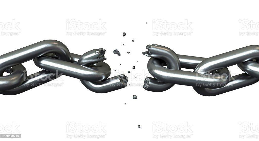 Breaking chains stock photo