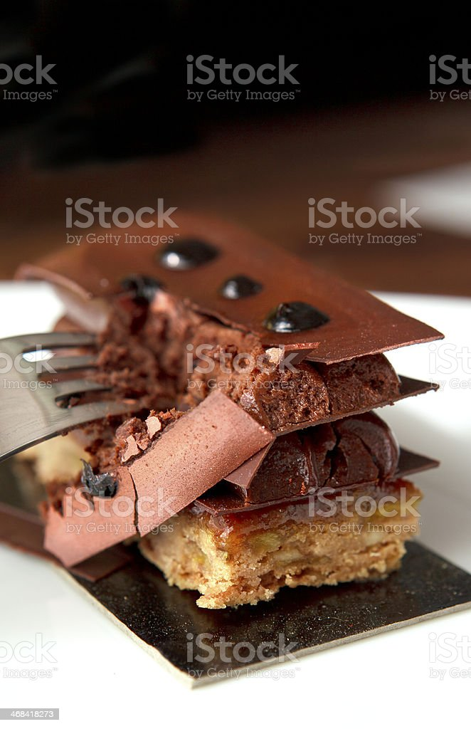 Breaking chocolate temptation royalty-free stock photo