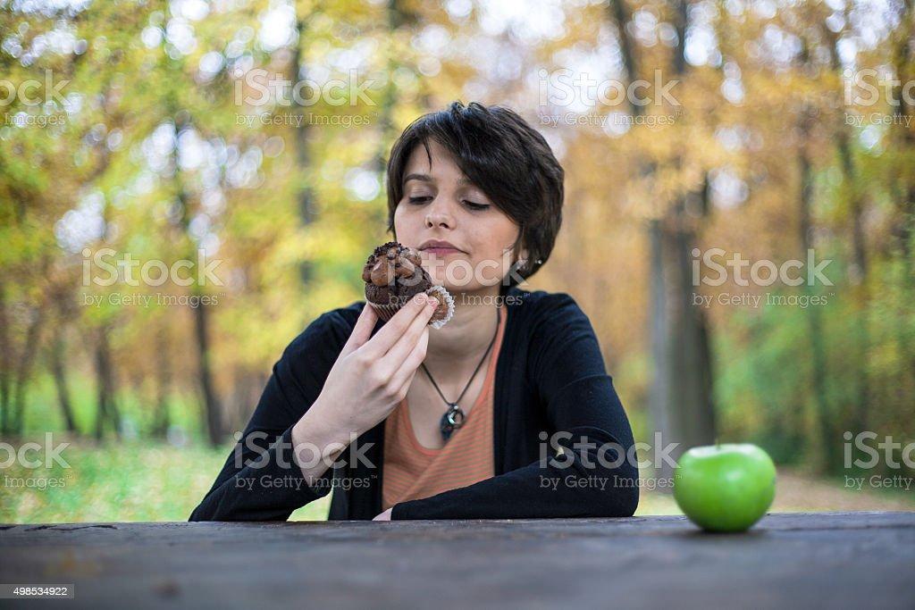 Breaking diet royalty-free stock photo