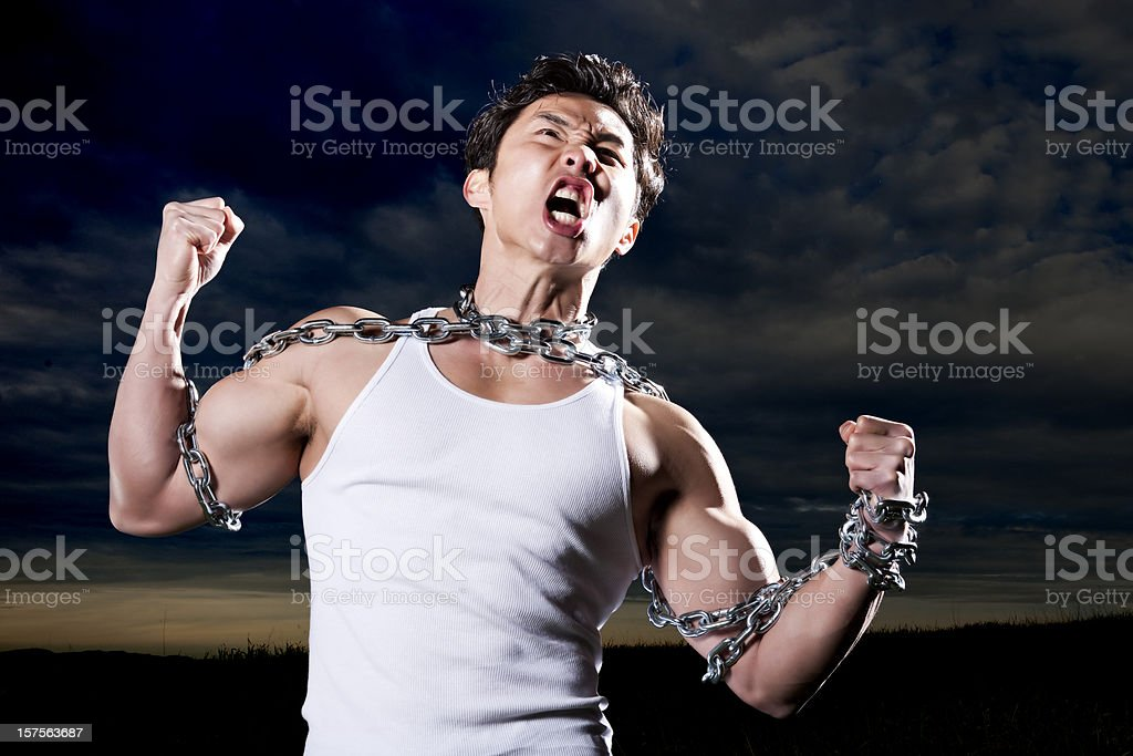 Breaking Free From The Chains That Bind stock photo