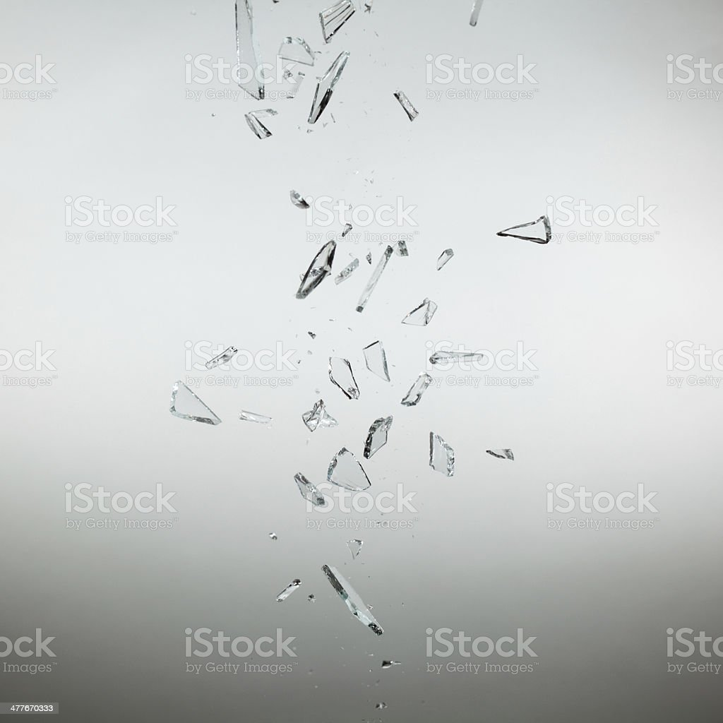 breaking glass stock photo