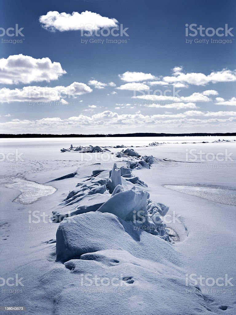 breaking ice royalty-free stock photo