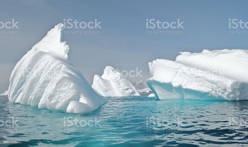 Breaking Icebergs in Antarctica stock photo