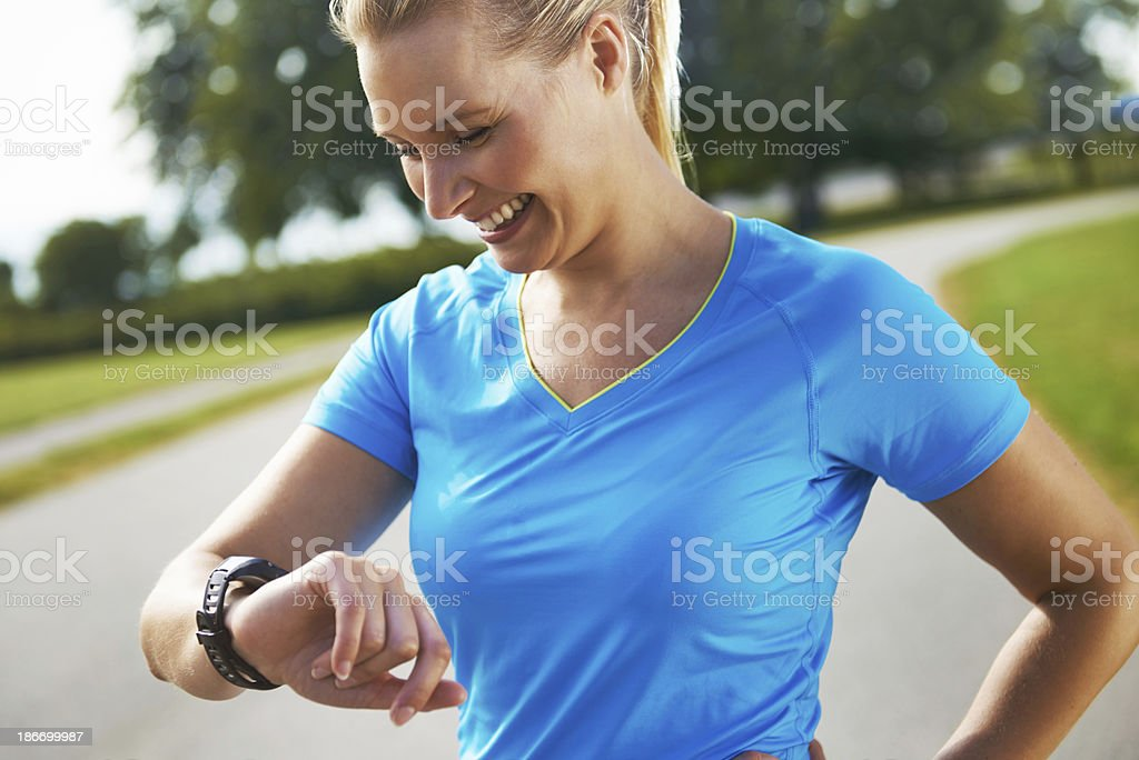 Breaking my own record stock photo