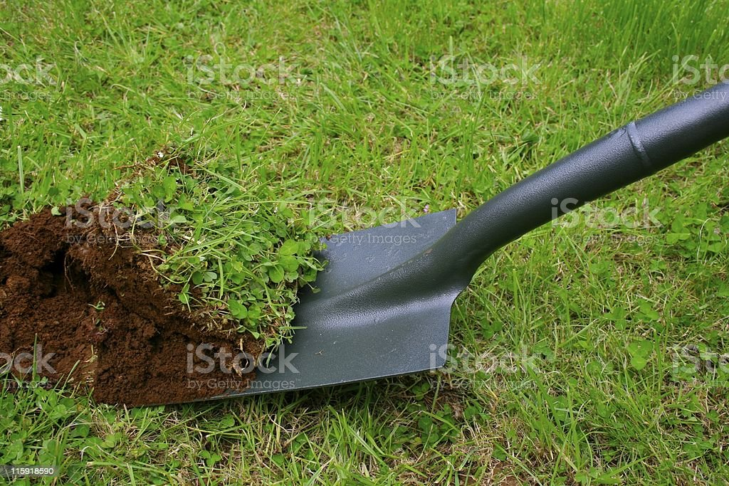 Breaking new ground stock photo