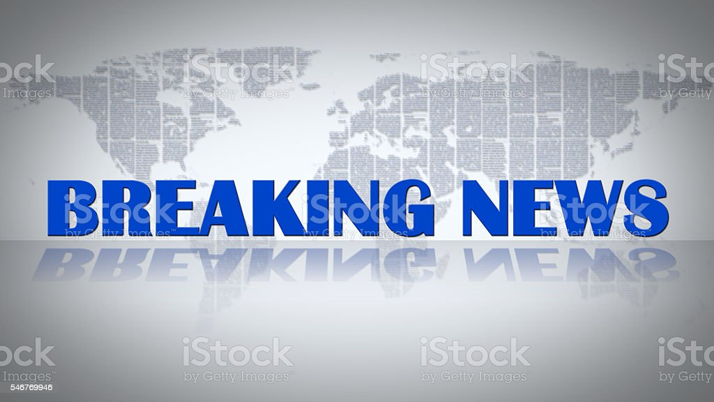 Breaking News background stock photo