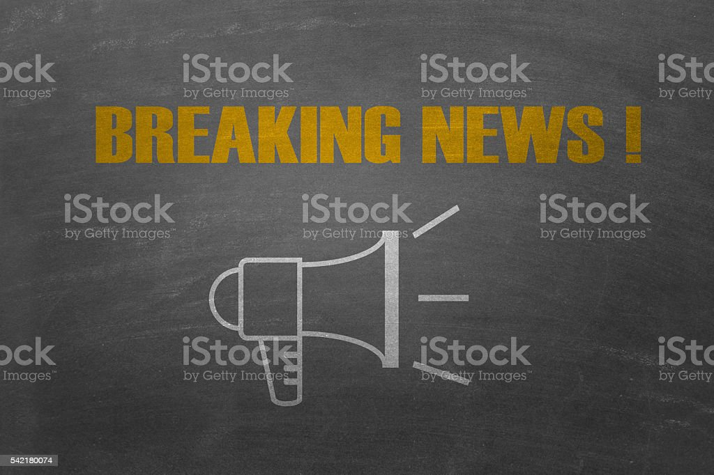 Breaking news concept stock photo