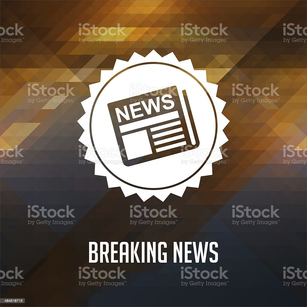 Breaking News on Triangle Background. stock photo