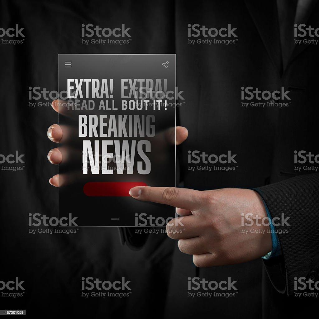 Breaking News royalty-free stock photo