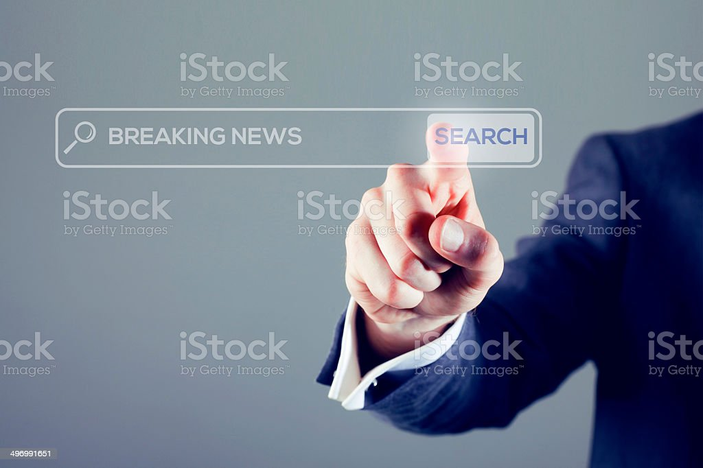 Breaking news search royalty-free stock photo