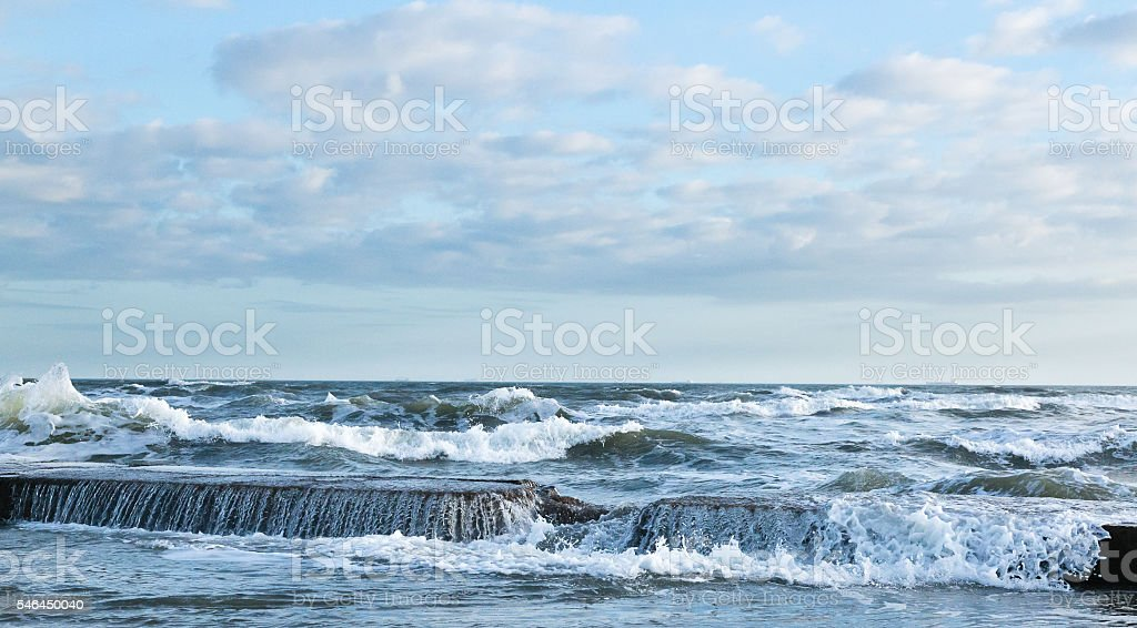 Breaking Ocean Waves stock photo