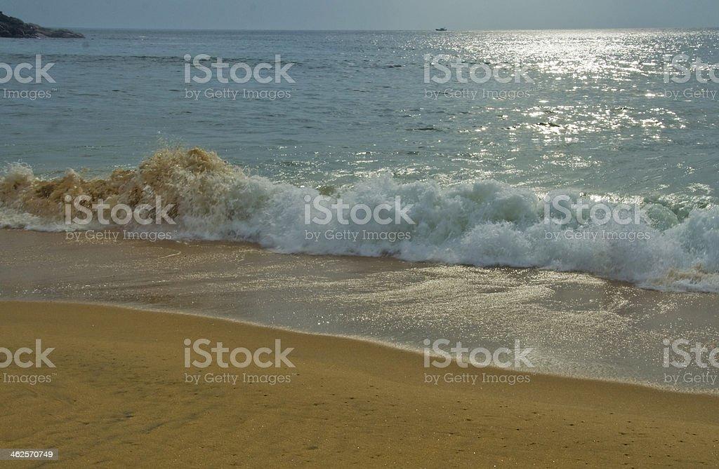 Breaking of Sea Wave stock photo