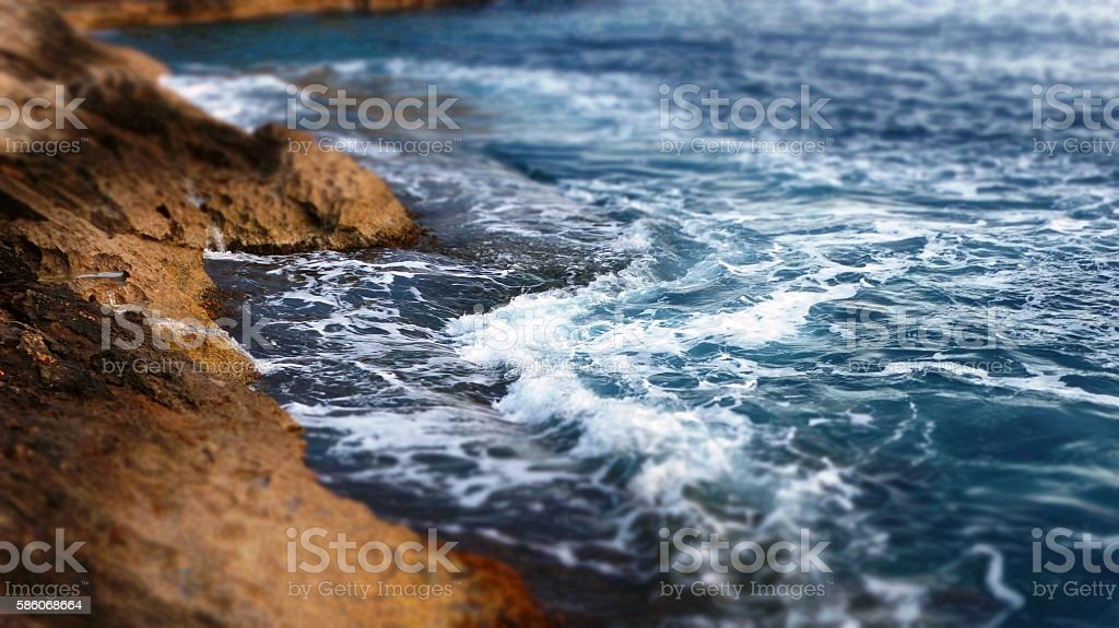 Breaking of waves stock photo