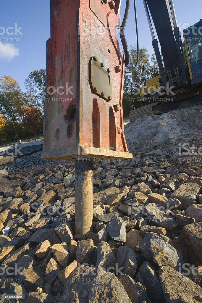Breaking Rocks royalty-free stock photo