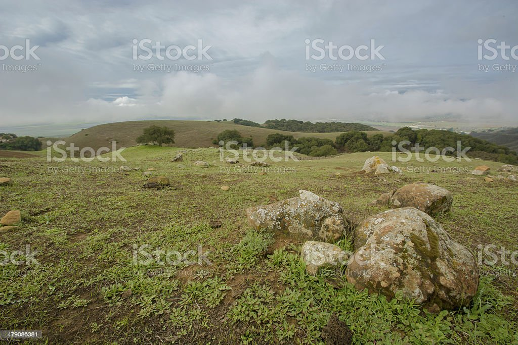 Breaking Storm over San Benito County stock photo